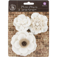 "Prima Marketing Chaste Mulberry Paper Flowers 2"" - 3.25"" 3/Pkg, Scrapify, Australia"