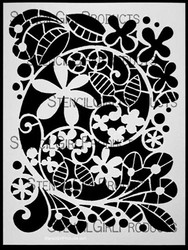 Garden Swirl Stencil Designed by Terri Stegmiller for Stencil Girl