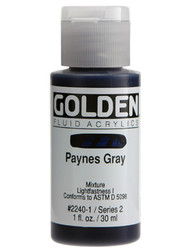 Golden, Fluid Acrylics, Artist Quality, Paynes Gray Grey #2240,1 fl.oz, Scrapify, Australia