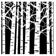"The Crafter's Workshop Stencils 12""x12"" - Aspen Trees TWC252, Scrapify, Australia"