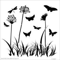 "The Crafter's Workshop Stencils 12""x12"" - Butterfly Meadow TCW 197, Scrapify, Australia"