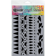 Ranger,  Dyan Reaveley's Dylusions Stencils Heart Border Small, 5 x 8in, Scrapify, Australia