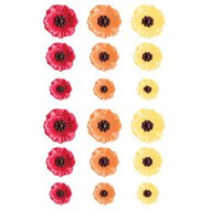 Prima Marketing-Donna Downey  Poppies & Peonies Sculpture Flowers 12mm To 23mm 18Pkg Poppies, Scrapify, Australia