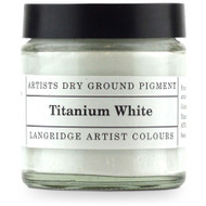 Langridge Dry Ground Pigment 120ml - Titanium White, Scrapify, Australia