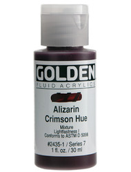 Golden Fluid Acrylic Artist Paints, Alizarin Crimson Hue, 4 fl oz,(118 mls) Scrapify, Australia