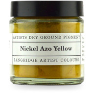 Langridge Dry Ground Pigment 120ml - Nickel Azo Yellow, Scrapify, Australia