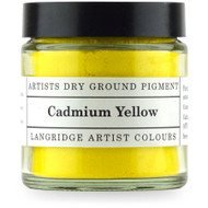 Langridge Dry Ground Pigment 120ml - Cadmium Yellow, Scrapify, Australia