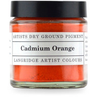 Langridge Dry Ground Pigment 120ml - Cadmium Orange, Scrapify, Australia