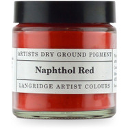 Langridge Dry Ground Pigment 120ml - Naphthol Red, Scrapify, Australia