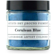 Langridge Dry Ground Pigment 120ml - Cerulean Blue, Scrapify, Australia
