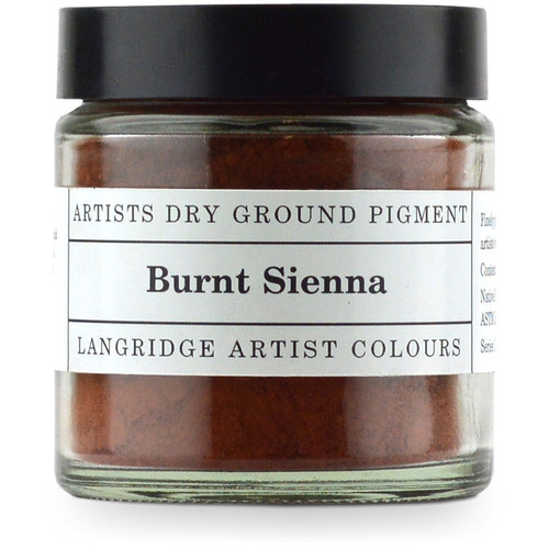 Langridge Dry Ground Pigment 120ml - Burnt Sienna, Scrapify, Australia