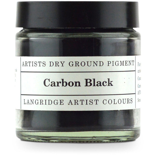 Langridge Dry Ground Pigment 120ml - Carbon Black, Scrapify, Australia