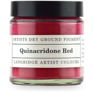 Langridge Dry Ground Pigment 120ml - Quinacridone Red, Scrapify, Australia