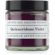 Langridge Dry Ground Pigment 120ml - Quinacridone Violet, Scrapify, Australia