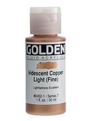 Golden, Fluid Acrylics, Artist Quality, Iridescent Copper Light Fine, 1 fl. oz, Scrapify, Australia
