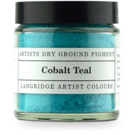Langridge Dry Ground Pigment 120ml - Cobalt Teal, Scrapify, Australia