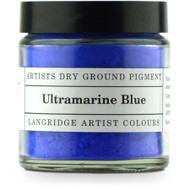 Langridge Dry Ground Pigment 120ml - Ultramarine Blue, Scrapify, Australia