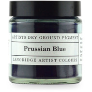 Langridge Dry Ground Pigment 120ml - Prussian Blue, Scrapify, Australia