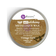 Prima Finnabair Art Alchemy, Metallique Wax  .68 fl oz, 20 ml, Vintage Gold, Scrapify, Australia