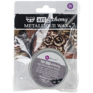 Prima Finnabair Art Alchemy, Metallique Wax  .68 fl oz, 20 ml, Brushed Iron, Scrapify, Australia