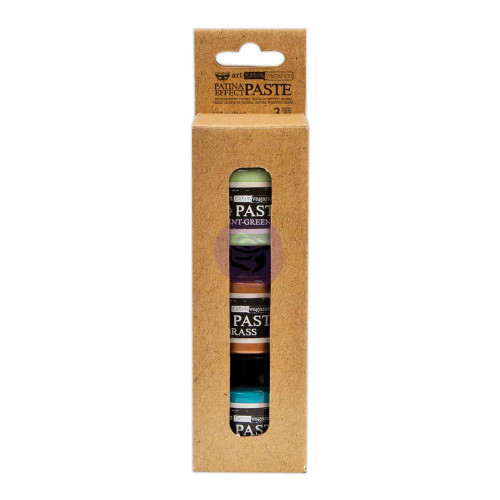 Prima Finnabair Art Extravagance Patina Effect Paste Set, 1.7 fl oz, 50 ml, Mint green, Brass and Blue, Scrapify, Australia