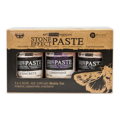 Prima Finnabair Art Extravagance Stone effects Paste Set, 3.38 fl oz, 100 ml, Concrete, Limestone,  Pumice, Scrapify, Australia