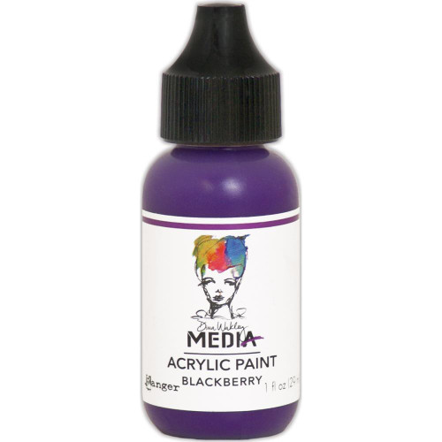 Ranger, Dina Wakley Media - Heavy Body Acrylic Paints -Blackberry, 1 oz, Scrapify, Australia