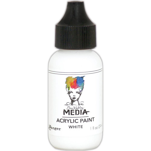 Ranger, Dina Wakley Media - Heavy Body Acrylic Paints -White, 1 oz, Scrapify, Australia