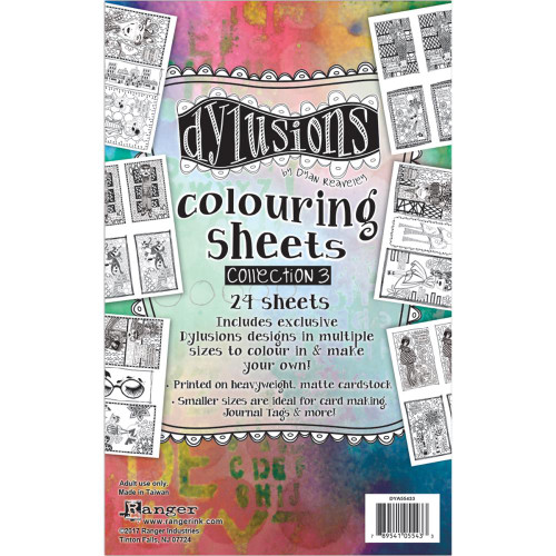 Ranger, Dylusions, Dyan Reaveley, Coloring Sheets #3, 24 sheets, 5 x 8in, Scrapify, Australia