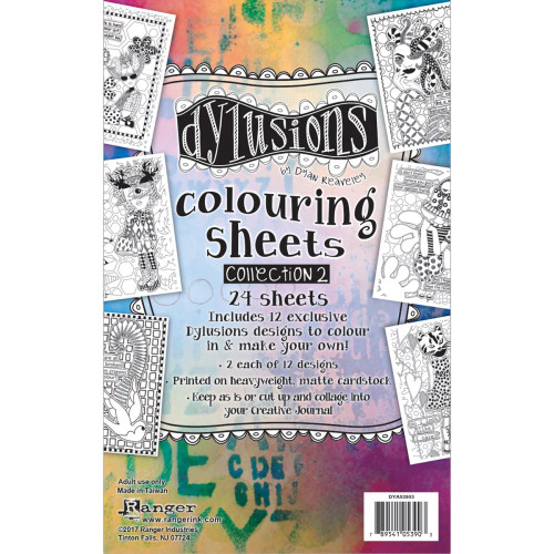 Ranger, Dylusions, Dyan Reaveley, Coloring Sheets #2, 24 sheets, 5 x 8in, Scrapify, Australia