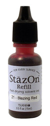 StazOn Staz-On Solvent Ink Refill .5oz, Blazing Red, Scrapify, Australia