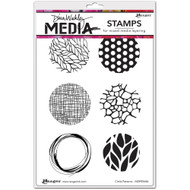 "Dina Wakley Media -  Circle Pattern, Cling Stamps 6""x9"", Scrapify, Australia"