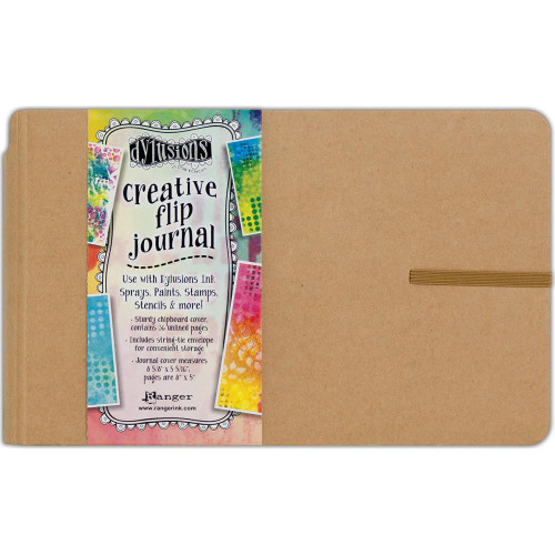 Dylusions Creative flip Journal - Art Journal (8 x 5in) page size, Scrapify, Australia