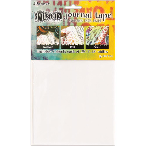 Dyan Reaveley's Dylusions Journal Tape Strips, 6 sheets, 3 widths, .75in, 1in, 1.5in, Scrapify, Australia
