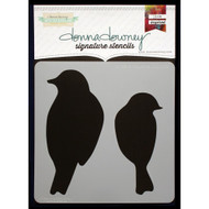 Donna Downey Signature Series Stencils - Birds Silhouette