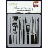 Donna Downey Signature Series Stencils - Brushes