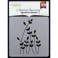 Donna Downey Signature Series Stencils, Sprout, 8.5 x 8.5in, DD080, Scrapify, Australia