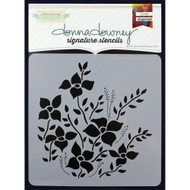 Donna Downey Signature Series Stencils, Flower Bed, 8.5 x 8.5in, DD065, Scrapify, Australia