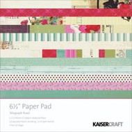 Kaisercraft  6.5in, Paper Pad, Telegraph Road, Design paper, 40 Page Pad, 2x12 sheets Designed Paper, 12xSpecialty Papers, 4xDie Cut Pages, Scrapify, Australia