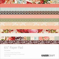 Kaisercraft  6.5in, Paper Pad, Storyteller, Design paper, 40 Page Pad, 2x12 sheets Designed Paper, 12xSpecialty Papers, 4xDie Cut Pages, Scrapify, Australia
