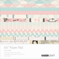 Kaisercraft  6.5in, Paper Pad, Pitter Patter, Design paper, 40 Page Pad, 2x12 sheets Designed Paper, 12xSpecialty Papers, 4xDie Cut Pages, Scrapify, Australia