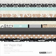 Kaisercraft  6.5in, Paper Pad,Something Blue, Design paper, 40 Page Pad, 2x12 sheets Designed Paper, 12xSpecialty Papers, 4xDie Cut Pages, Scrapify, Australia