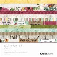 Kaisercraft  6.5in, Paper Pad, Bea-YOU-tiful , Design paper, 40 Page Pad, 2x12 sheets Designed Paper, 12xSpecialty Papers, 4xDie Cut Pages, Scrapify, Australia