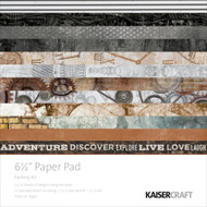 Kaisercraft  6.5in, Paper Pad, Factory 42,  40 Page Pad, 6.5 x 6.5in., Scrapify, Australia