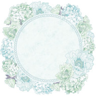 Kaisercraft  Speciality paper, Lilac Whisper collection, Hydrangea Wreath 12 x 12in , Scrapify, Australia
