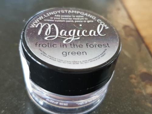 Lindy's Stamp Gang - Pigment Powders - Magicals - frolic in the forest green, Scrapify, Australia