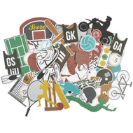 Kaisercraft  Collectables, Die cut shapes, Game on-equipment, over 50 pcs, Scrapify, Australia