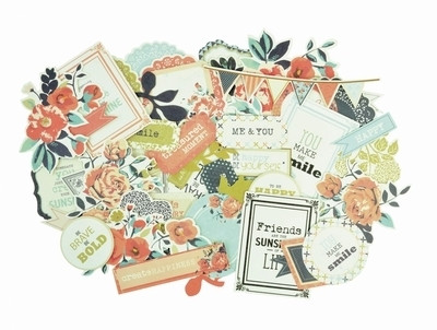 Kaisercraft  Collectables, Die cut shapes, Blubelle,  over 50 pcs, Scrapify, Australia