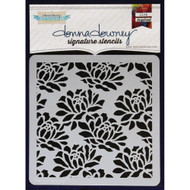 Donna Downey Signature Series Stencils, Peonies, 8.5 x 8.5in, , Scrapify, Australia