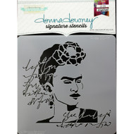 Donna Downey Signature Series Stencils, Frida DD117, 8.5 x 8.5in, Scrapify, Australia